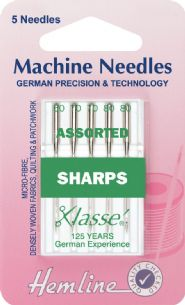 0H105.99 Sharp/Micro Machine Needles: Mixed